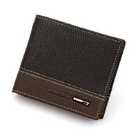 Wholesale Nylon Passport Holder - Wholesale- High Quality Mens Leather Bifold Money Card Holder Wallet Coin Purse Clutch Pockets