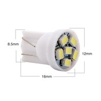 Wholesale Super Led W5w - T10 W5W 194 168 1206 6 SMD 6 LED 3020 6smd high power LED light Bulbs super Cold white