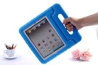 schutzschaumabdeckung stoßfestes gehäuse großhandel-Für iPad 2 3 4 EVA Schaum Stoßfest Fall Für Samsung Tablet Kinder Kinder Griff Stand Schutzhülle Tropfen Beständig