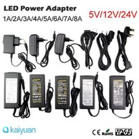 Wholesale Power Supply 12v 5v Switching - new opening discount AC100-240V to DC 12V 5v DC24V 2A 3A 4A 5A 6A 8A Switching Power Supply Adapter with EU US Plug transformer Led Strips