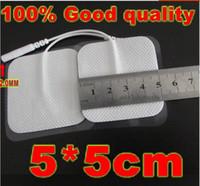zens gel pads großhandel-Quadratische wiederverwendbare selbstklebende Gel TENS-Einheit Elektroden 5 * 5cm Elektroden-Pads erstaunliche Haftung für TENS / ems truMedic Massage