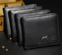 Wholesale Retro Leather Wallets For Men - New Arrival PU Leather Men Wallets Purse & Bifold Brand Wallet Retro Design Style Purse For Men 12pcs Free Shipping