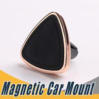 ingrosso scatola magnetica dell'automobile-Supporto magnetico del telefono dell'automobile del supporto dell'aria dello sfiato magnetico per il iPhone 6 6s Magnete di rinforzo del montaggio ad un passo con la scatola al minuto