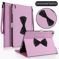 Wholesale Bracelet Bundles - Bow tie and bracelet silicone sleeping stand Case Cover for ipad mini new ipad 2017 Air1 2 pro9.7