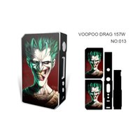 ingrosso adesivi mod box mod-VOOPOO DRAG 157W TC Box Mod sticker Mods Ecig Dual 18650 Batteria Super Vape Mod 157w TC Moduli di controllo della temperatura