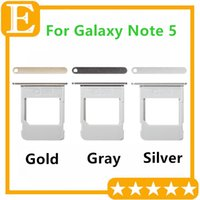Wholesale Note Sim Tray - Sim Card Tray Slot Holder Repalcement Parts for Samsung Galaxy Note 5 N920 N920F N920P VS N920T N920A Micro Single Sim Tray Holder