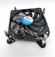 Wholesale Thin Radiator Fan - New Original Super thin 1U 1156 1155 copper core CPU radiator thick 28mm single ball silent fan