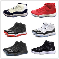 Wholesale quality space - 11 Basketball Shoes 11s 72 10 concord red bred Legend gamma blue space jam 45 XI men women Advanced Quality Version