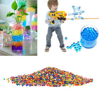 Wholesale Gun Beads - 10000pcs packet colored orbeez soft crystal water paintball gun bullet grow water beads grow balls water gun toys