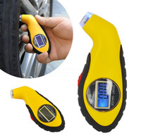 Wholesale 0 PSI Digital LCD Car Tire Tyre Air Pressure Gauge Meter Manometer Car Barometers Tester Tool Auto Car Motorcycle free DHL