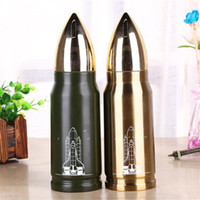 Wholesale Large Bullet - 2017 hot sale 500ml Stainless Steel Bullet vacuum heat preservation Water Bottles Business Cups Large Capacity Tumblerful Mugs wholesale