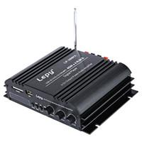 усилитель громкоговорителей для компьютера оптовых-Lepy LP-269FS HiFi цифровой стерео усилитель США Plug 4-канальный мощный звук совместим с автомобилем мотоцикл компьютер динамик