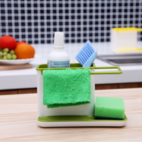 Wholesale Plastic Kitchen Storage Rack Holders Kichen Tidy Stand Sink Draining Brush Sponge Cleaning Cloth Kitchen Towel Rack Washing Holder