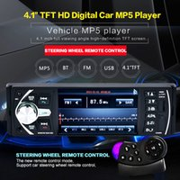 Wholesale x radio tuner - 4.1 Inch 50W x 4CH 1 DIN Car In-Dash Stereo Audio FM Receiver MP5 Radio Player with Bluetooth USB CAU_01D