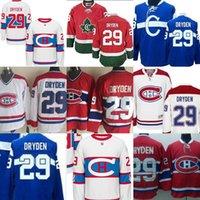 Wholesale Ken Dryden Jersey - 2017 Montreal Canadiens29 Ken Dryden CCM Home Red Throwback Stitched Vintage Ice Hockey Jerseys size S-XXXL