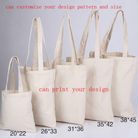 Wholesale Custom Size Canvas Prints - 10an canvas bag plain tote bags environmental shopping bags custom canvas cloth bags can print customize your design pattern and size