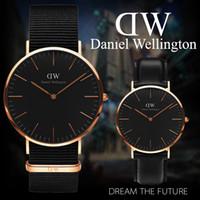 gummischlauch uhr großhandel-Neue männer frauen Daniel uhren 40mm Männer uhren 36mm frauen uhren Luxus Quarzuhr Weibliche Uhr Relogio Montre Femme Armbanduhren