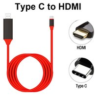 Wholesale red hdmi cable - 2M USB 3.1 Type C to HDMI Cable USB-C 4K 1080P HDTV Adapter Cable for Samsung S8 Plus S8+ HDMI cable