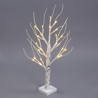 Wholesale Waterproof Desk - 60CM 24 LEDs Battery Operated Desk Top Silver Birch Twig Tree Light White Branches for Christmas Party Wedding Indoor Outdoor Decoration