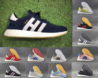 Wholesale Light Blue Skateboard - INIKI 2017 new arrival Originals iniki Sports boost Shoes Cheap Leather Men and women Skateboard Trainer Sneakers Size US5--11