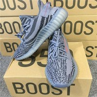 Wholesale Wholesale Flat Boots - ORIGINALS Y BOOST 350 V2 AH2203 CHARCOAL GREY BLACK RES RED NOIR RES ROUGE BELUGA 2.0 RUNNING SHOES KANYE WEST SPLY 350 V2 BOOSTS