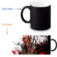 Wholesale Making Mugs - Wholesale- Deadpool Custom Made Design Water Coffee Mug Novelty Gift Mugs Morphing Ceramic Cup 12 OZ Office Home Cups