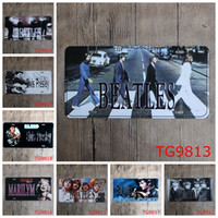 Wholesale Modern Cm - Stars License Plate Iron Painting Elvis Presley 30X15 CM Metal Tin Signs Beatles Marilyn Monroe Tin Posters Modern 3 99rjJ