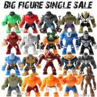 Hot selling Single Sale Decool Styles Big Size Hulk Thing Venom Hulk buster Green Goblin Groot Building Block Figures Toy For Children