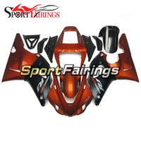 Wholesale 99 Yamaha R1 Plastics - Injection Plastics For Yamaha YZF1000 YZF R1 98 99 1998 - 1999 ABS Fairings Motorcycle Full Fairing Cowlings Orange Black