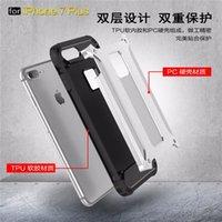 vakalar telefon duruyor toptan satış-Telefon Cases-4 iphone 7 Kılıfı Zırh iphone 7 Kılıfı için Sert Kapak Standı