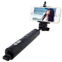 Wholesale Handheld Camera Tripod - Wholesale Universal Bluetooth Mobile Phone Mini Handheld Selfie Stick Extendable Portable Monopod Tripod for iPhone Samsung Galaxy Camera