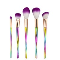 Wholesale Wholesale Small Tool Kits - High quality 5pcs small waist makeup brush Set Professional Blush Powder Eyebrow Eyeshadow Lip Nose Blending Make Up Brush Cosmetic Tools
