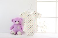 Wholesale Cute Baby Boy Picture - 100 psc 7 colors animal picture optional Baby Rompers Winter Infant Bear Jumpsuit Newborn Cute Baby Clothes Long Sleeve Coverall for Boys Gi