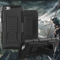 Wholesale future apple iphone - For iPhone 6S Plus iPhone 6S Future Armor Impact Hybrid Case for Sansumg S7 Case with Belt Clip Holster Kickstand Case with Opp Package