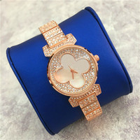 Wholesale Fashion Ladies Watch Flower - New Model Lady Watch Flowers Dial Face Romatic Diamond Gifts for girls Lady Wristwatch Dress watch High Quality noble female Quartz Free box