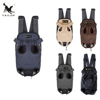 Wholesale Pet Dog Carrier Legs - TAILUP New Cotton Denim Material Pet Legs Out Front Carrier Bag dog carrier Free Shipping Retail Backpack dog bag