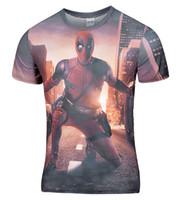 Wholesale Wholesale Men Long Sleeve Shirts - Wholesale- New Arrive American Comic Badass Deadpool T-Shirt Tees Men Women Cartoon Characters 3d t shirt Funny t shirts Casual tee shirts