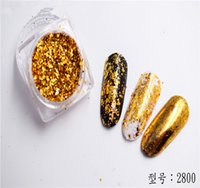 Wholesale New arrival DIY Shinning Chrome Magic Powder Nail Art Tips Decoration Pigment Glitter Dust Tools DIY Manicure