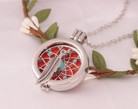 Wholesale essential oils for children - 2017 New Locket Necklace Fragrance Essential Oil Aromatherapy Diffuser Pendant for girlfrend friend children birthday gift