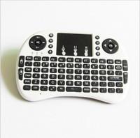 oem tv box großhandel-Rii I8 Smart Fly Air Maus Fernbedienung Hintergrundbeleuchtung 2,4 GHz Wireless Keyboard Fernbedienung Touchpad Für S905X S912 Android TV Box MXQ T95