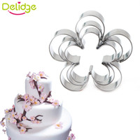 Wholesale Rose Petal Cutters - 3 pcs Rose petals 3 - piece biscuit mold Rose Petal Cookie Cake Cutters Biscuit Pastry Mould Cute DIV manual enjoy life
