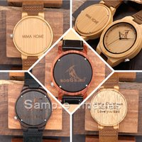 Wholesale Watch Fee - The Link for Customization Fee without WATCH Personality Creative Design Logo Engraved Carved Customize Bamboo Wooden Watch No Product