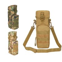 Wholesale Tactical Saddle Bags - Multi-functiona Camo Cycling Water Bottle Pouch Molle Military Belt Hang Rucksack Saddle bag Tactical Sling Bag Water Bag