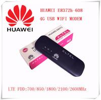 Wholesale Lte Usb Modem - Wholesale- Unlocked Huawei E8372 E8372h-608 150Mbps 4G LTE usb Wifi modem carfi car wifi router pk 8278 E3372 usb modem LTE Modem e8278