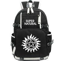 Wholesale play boy men - Supernatural backpack Classic TV play daypack Hot schoolbag Teleplay rucksack Sport school bag Outdoor day pack