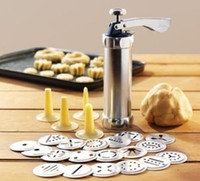 pump makers Canada - Free S hipping Biscuit Making Maker Pasty Cutter Cookie Press Pump Machine Cake Shaper