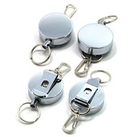 Wholesale Retractable Carabiner - Retractable Key Chain Key Return Keyring Badge Holder W  Belt Clip with Stainless Cable Burglar Portable Keychain B109Q