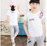 sports leisure clothing - Spring Summer New Girls Fashion Leisure Clothing Sets Kids Clothes Sports Sets Children s Clothing