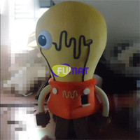 Wholesale Shop Mascot Costumes - FUMAT Yellow Bulbs New Arrival Mascot Costume Lighting Shop Promotion Cartoon Costume Activity Fancy Dress Picture Sample Customization