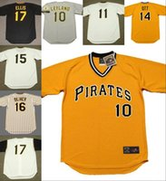 Men ott throwback jersey - Jim Leyland Pittsburgh Pirates Richie Hebner Jose Pagan Ed Ott Gene Alley Doug Drabek Al Oliver Dock Ellis Throwback Away Baseball Jersey